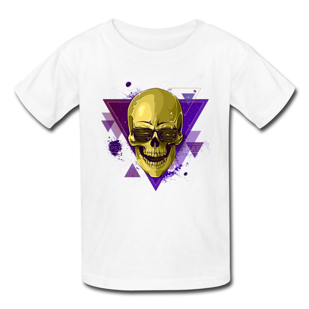 Digital Skull Kids' T-Shirt - white