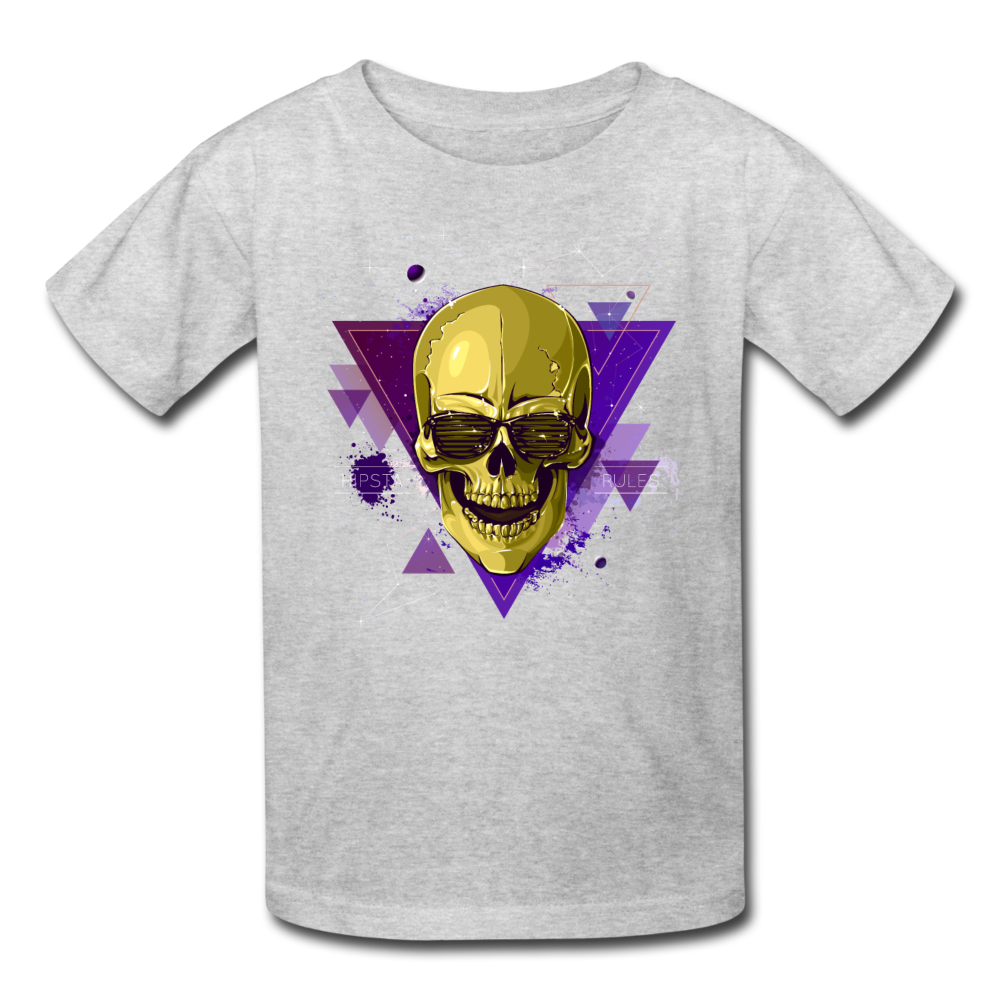 Digital Skull Kids' T-Shirt - heather gray