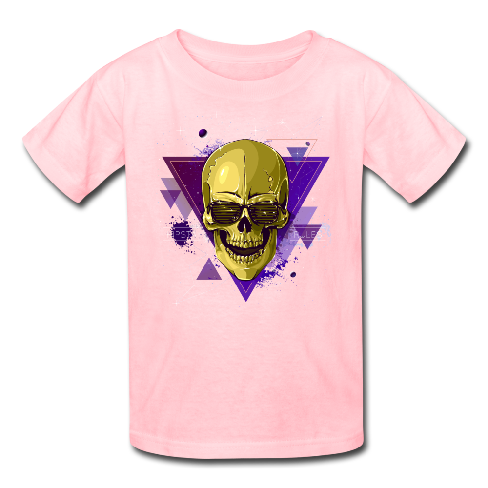 Digital Skull Kids' T-Shirt - pink