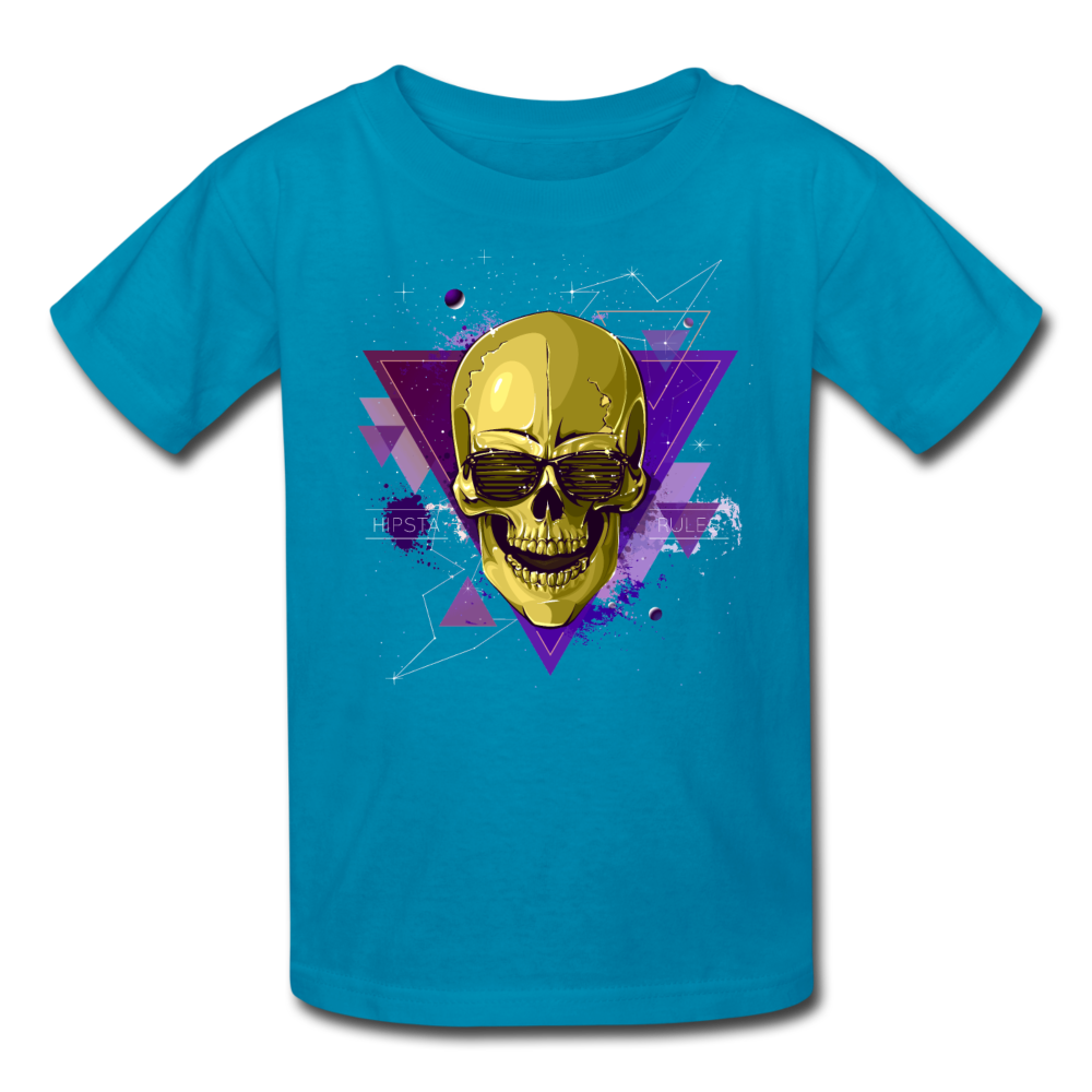 Digital Skull Kids' T-Shirt - turquoise
