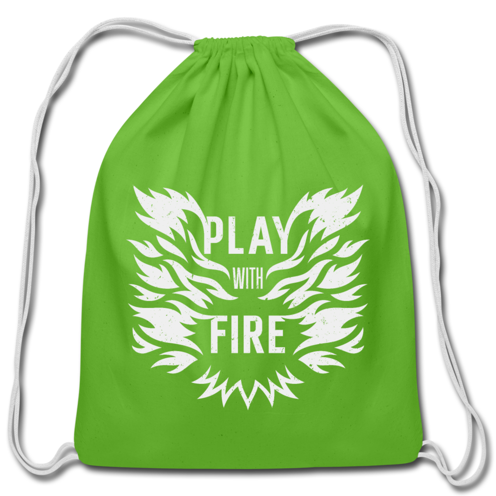 Play With Fire Cotton Drawstring Bag