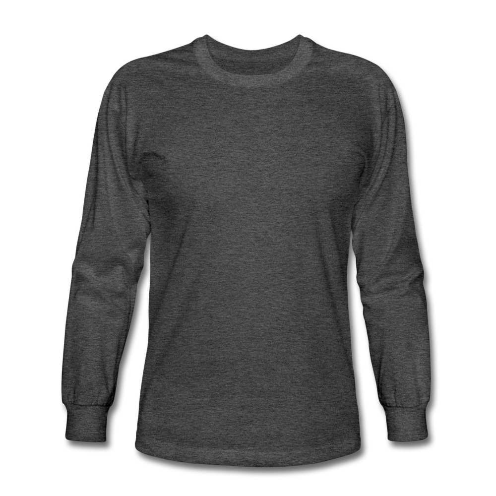 Men's Long Sleeve T-Shirt - heather black