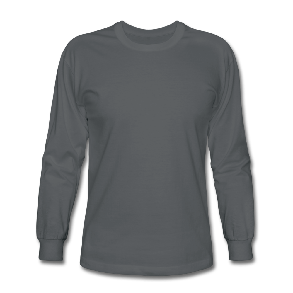 Men's Long Sleeve T-Shirt - charcoal