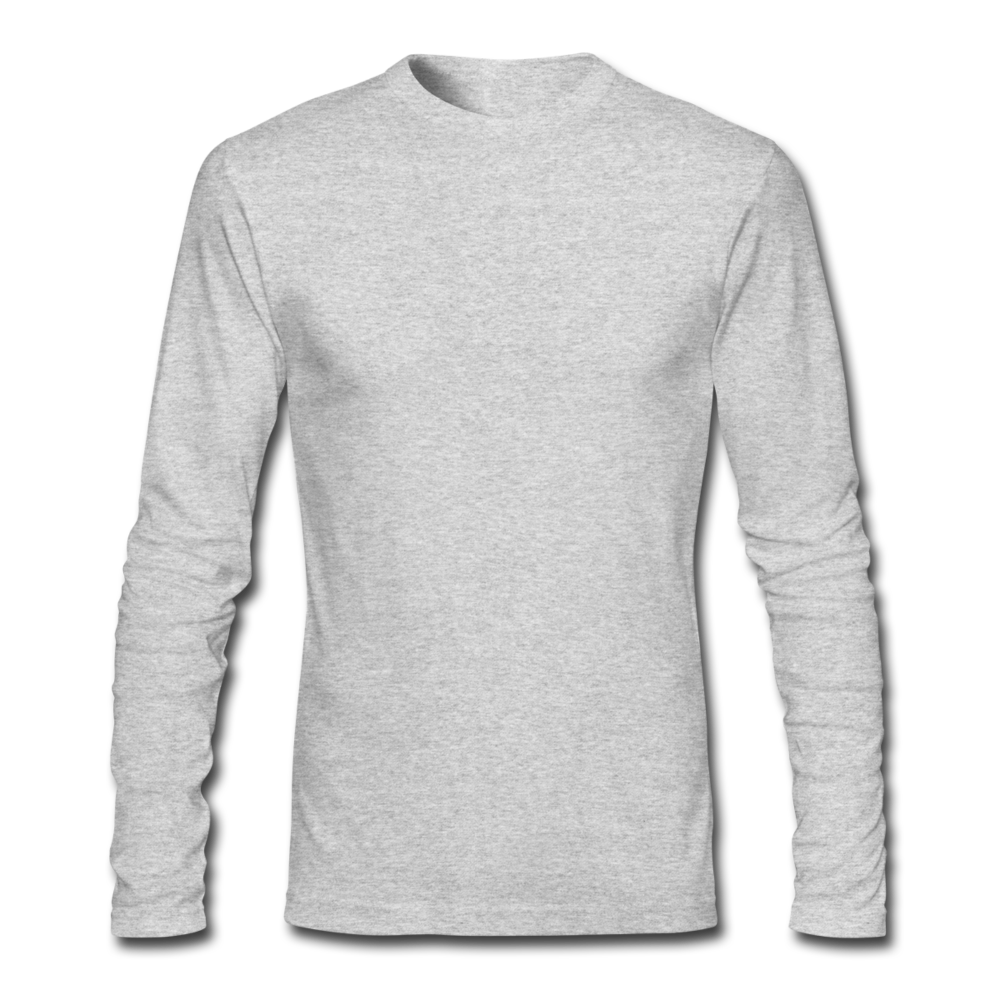 Men's Long Sleeve T-Shirt by Next Level - heather gray