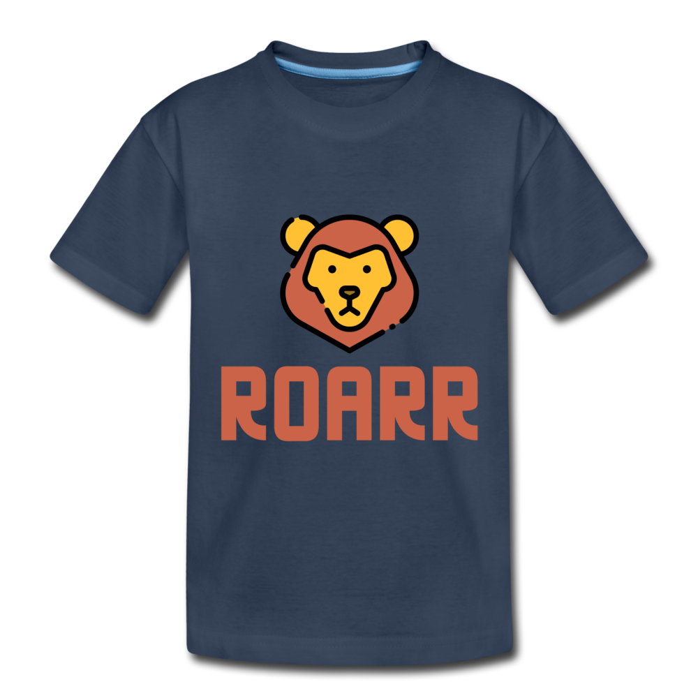 Lion Toddler Premium Organic T-Shirt - navy