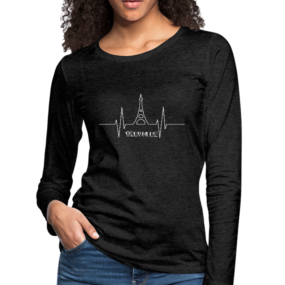 Women's Premium Slim Fit Long Sleeve T-Shirt - charcoal gray