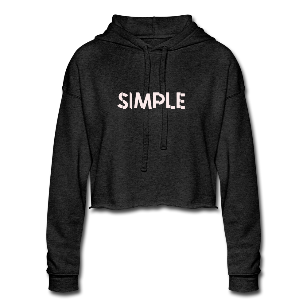 Simple Women's Cropped Hoodie - deep heather