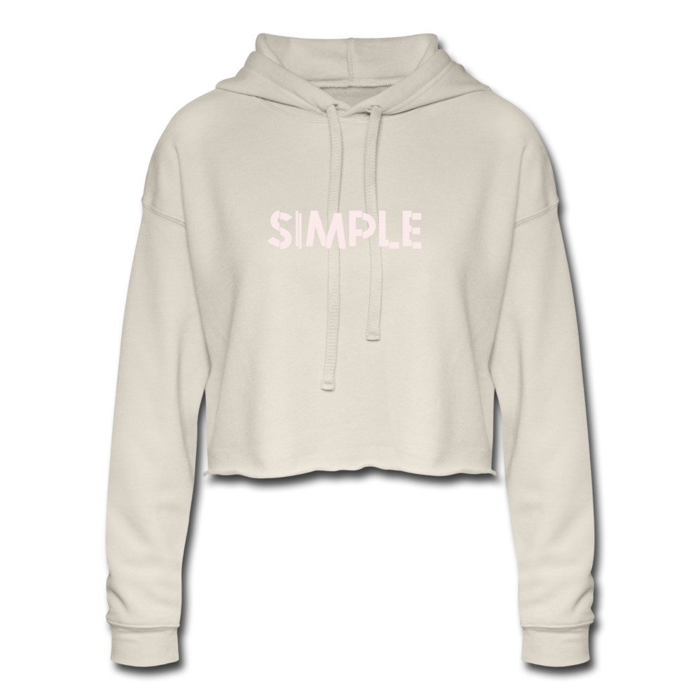 Simple Women's Cropped Hoodie - dust