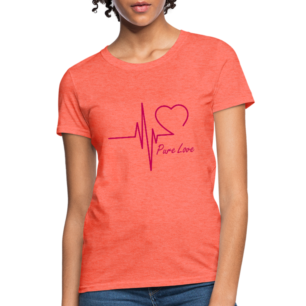 Pure Love Women's T-Shirt - heather coral