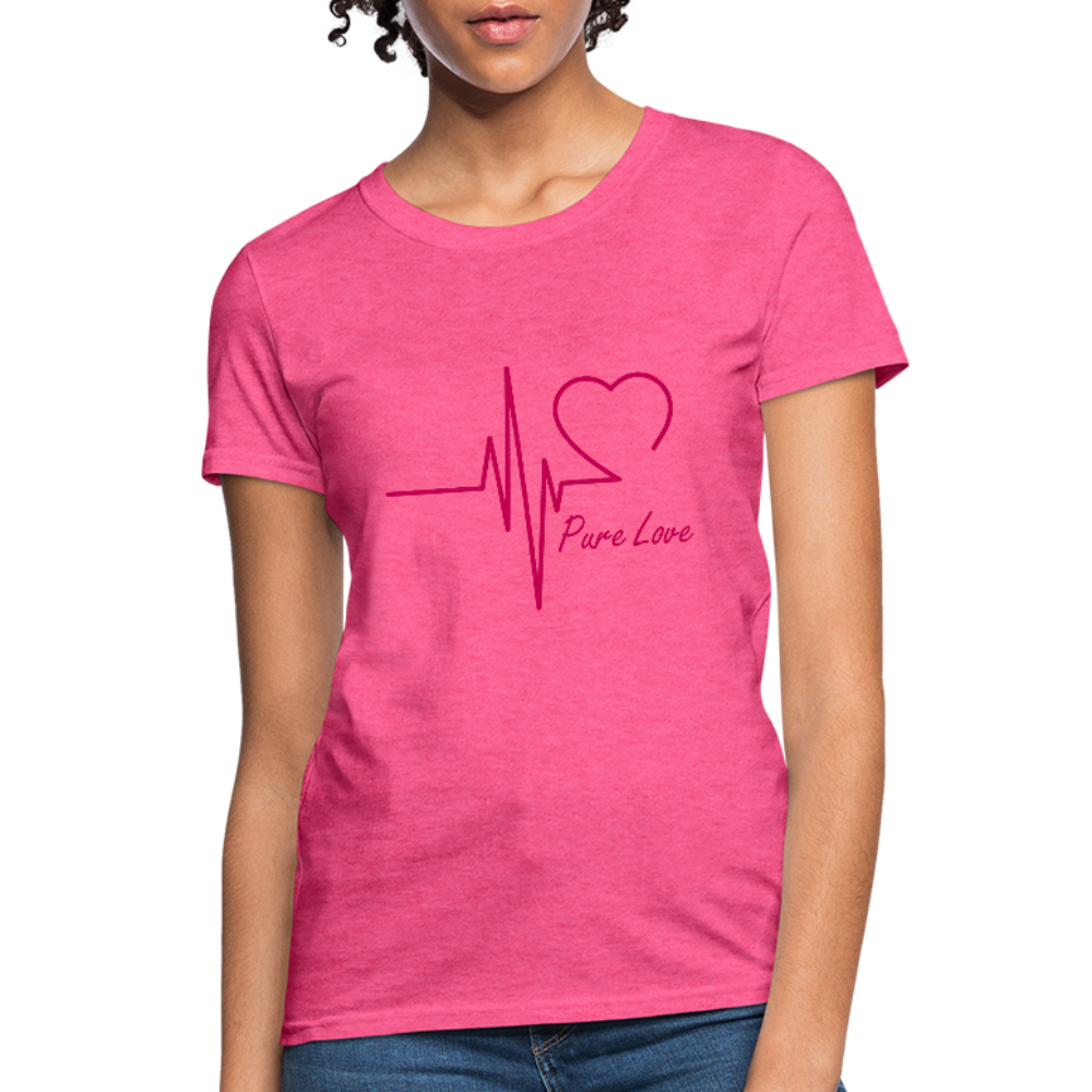 Pure Love Women's T-Shirt - heather pink