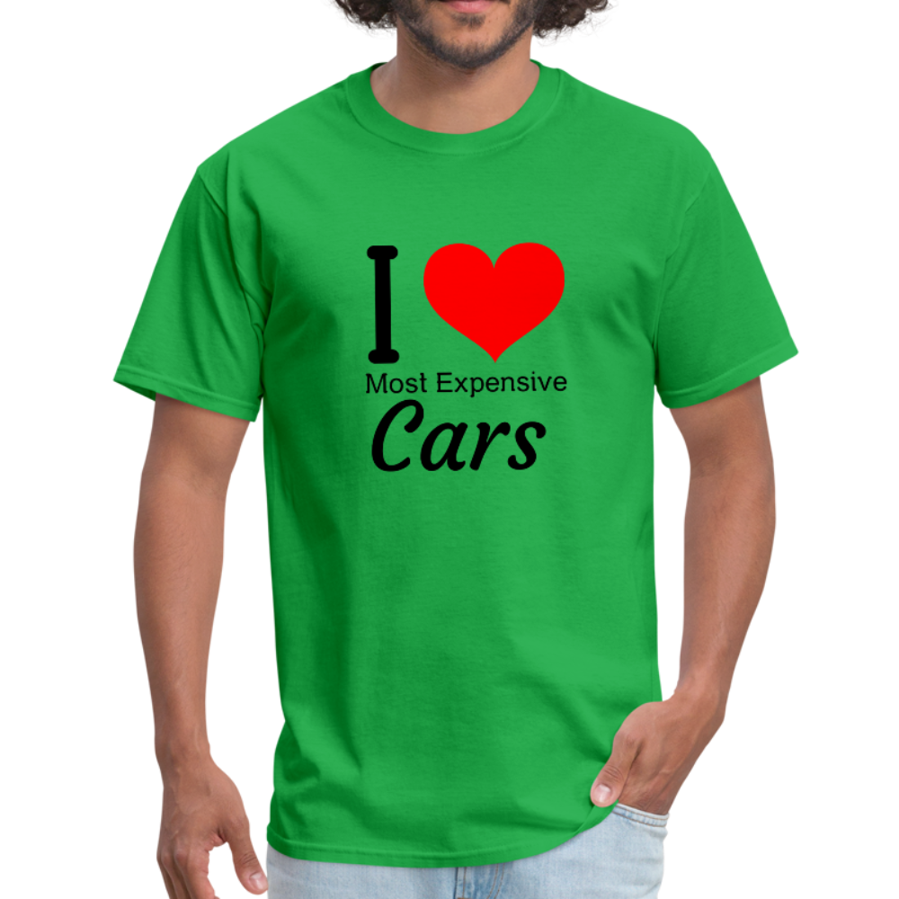 I love most expensive cars Men's T-Shirt - bright green