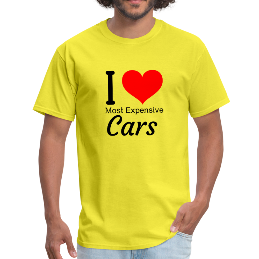 I love most expensive cars Men's T-Shirt - yellow