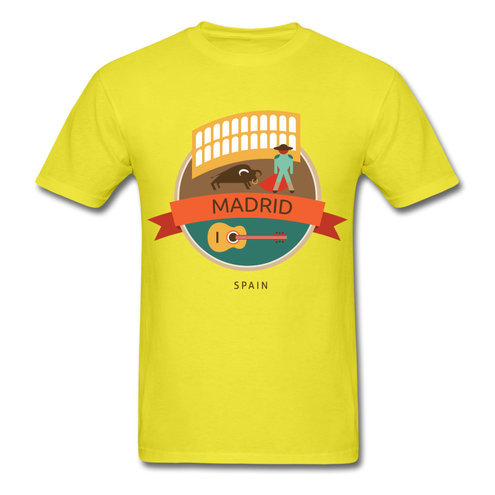 Madrid Men's T-Shirt - yellow
