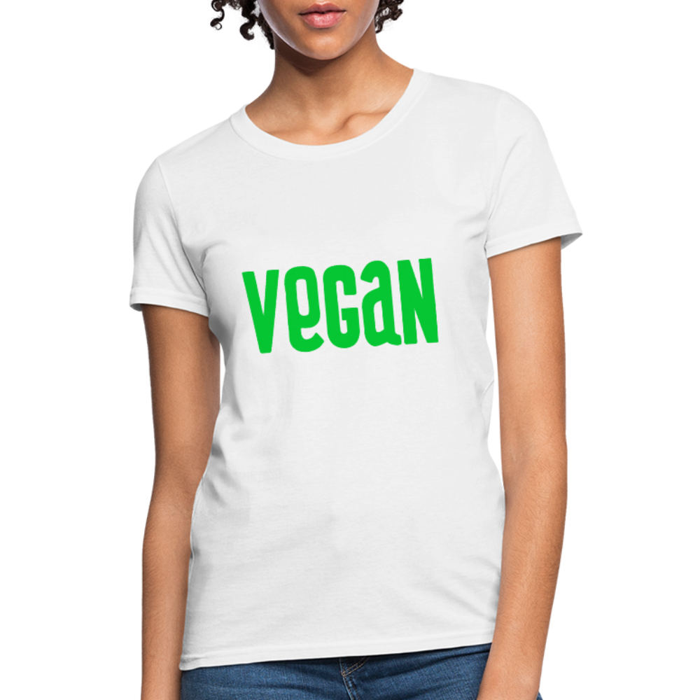 Vegan Women's T-Shirt - white