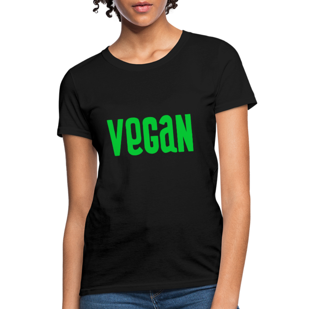 Vegan Women's T-Shirt - black