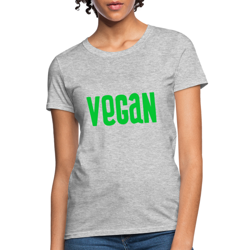 Vegan Women's T-Shirt - heather gray