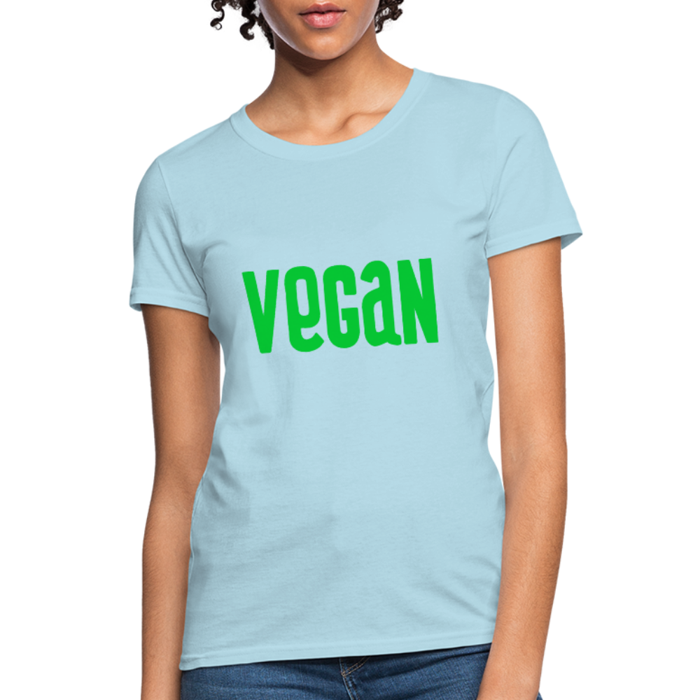 Vegan Women's T-Shirt - powder blue
