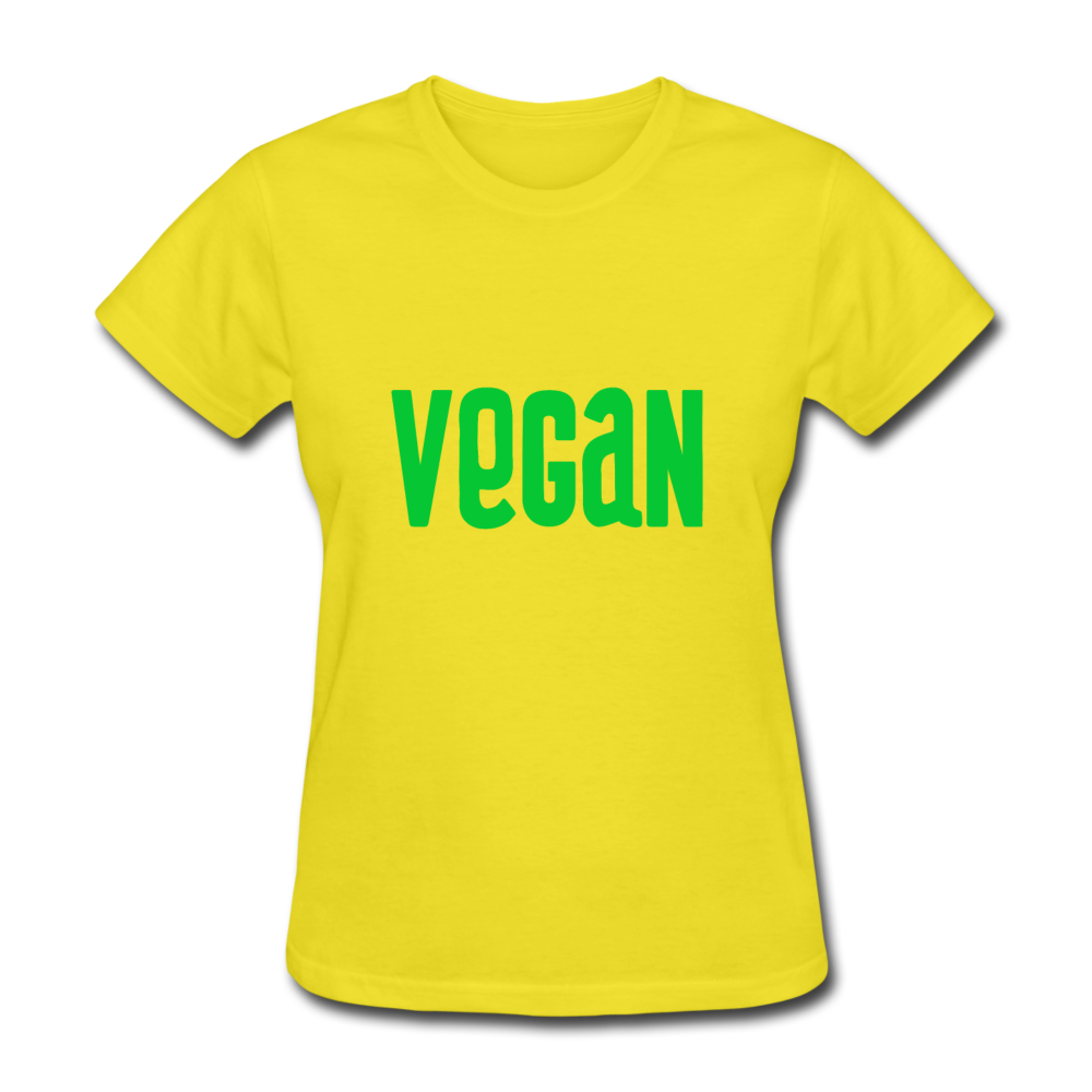 Vegan Women's T-Shirt - yellow