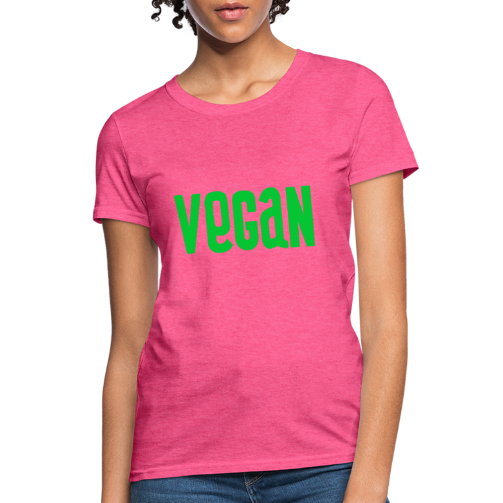 Vegan Women's T-Shirt - heather pink