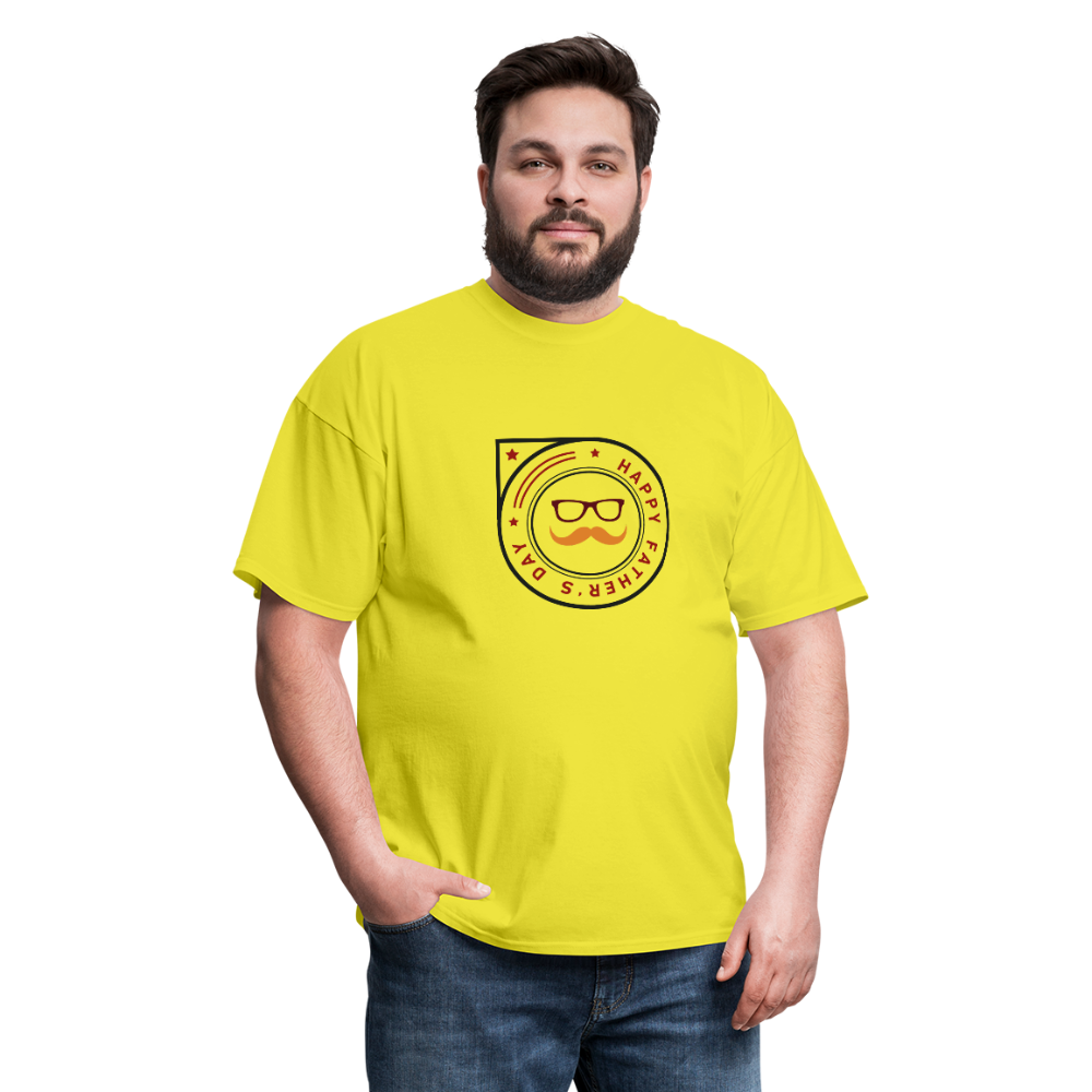 Father's Day Men's T-Shirt - yellow