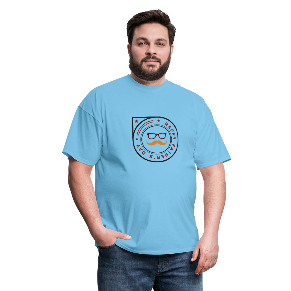 Father's Day Men's T-Shirt - aquatic blue