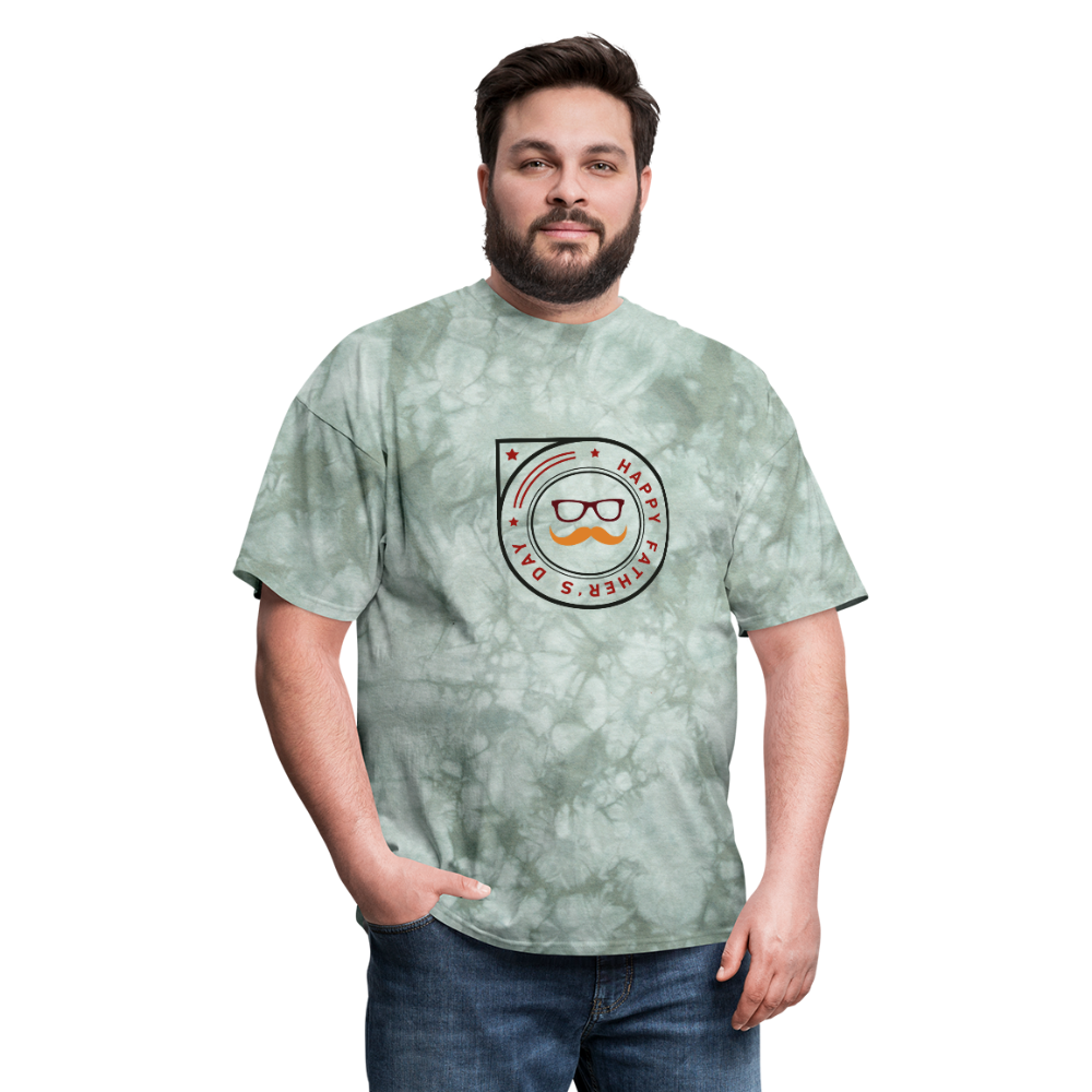 Father's Day Men's T-Shirt - military green tie dye