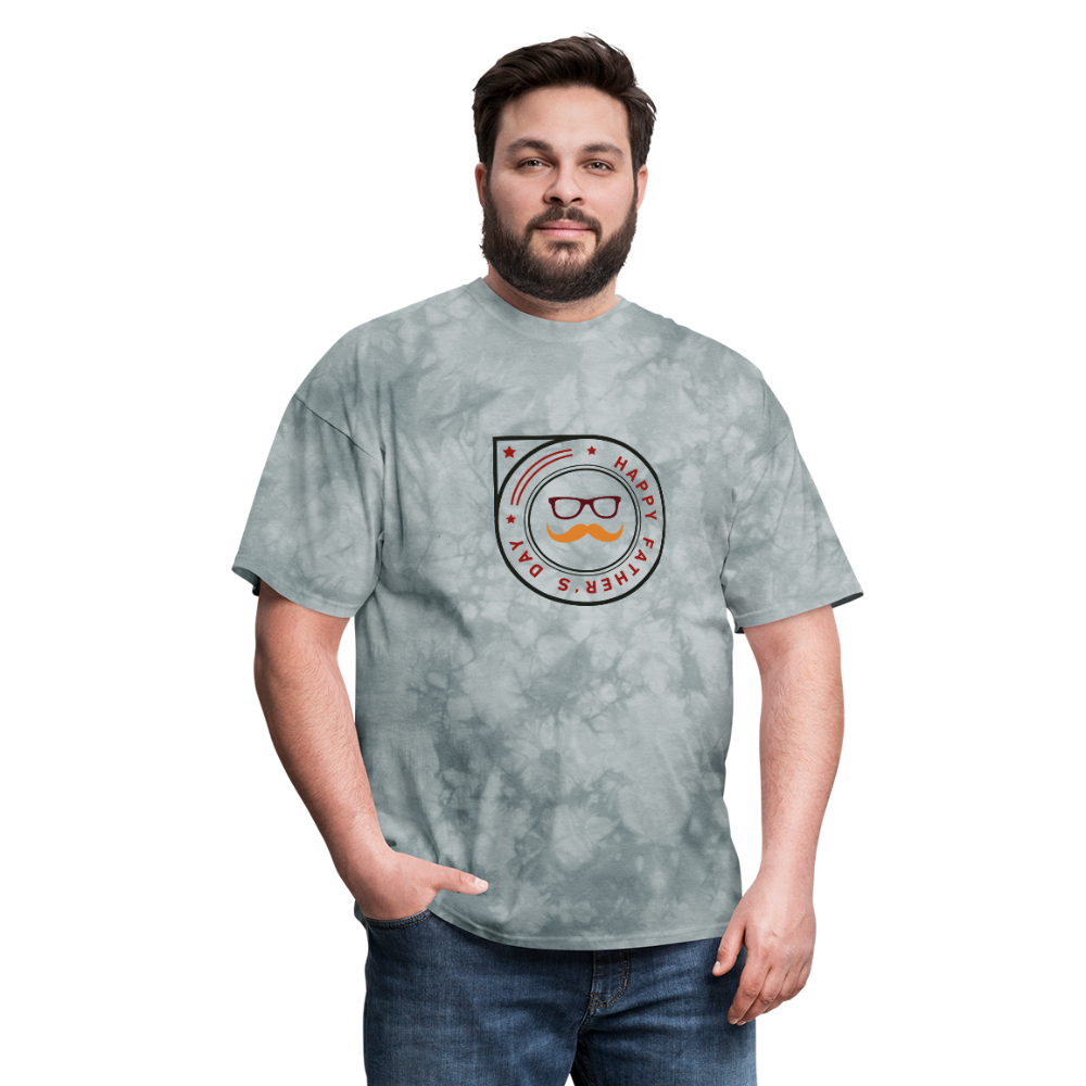 Father's Day Men's T-Shirt - grey tie dye