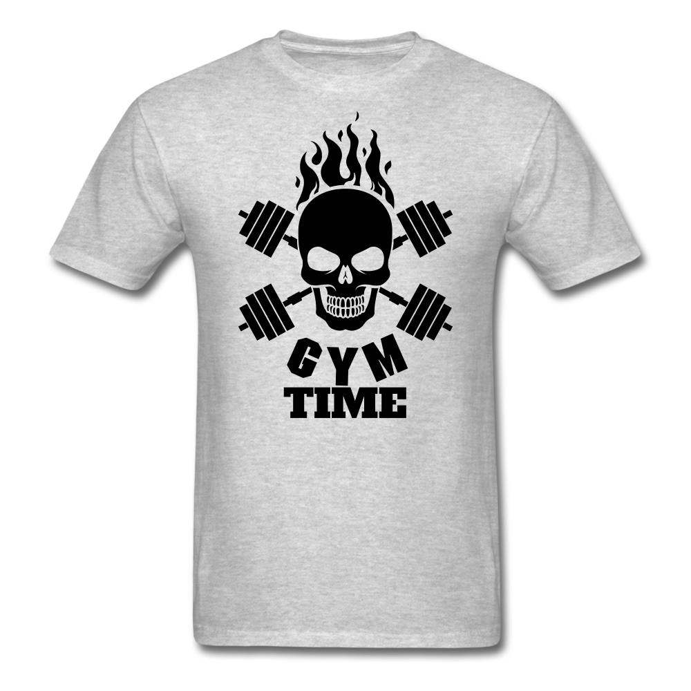 Gym Time Men's T-Shirt - heather gray