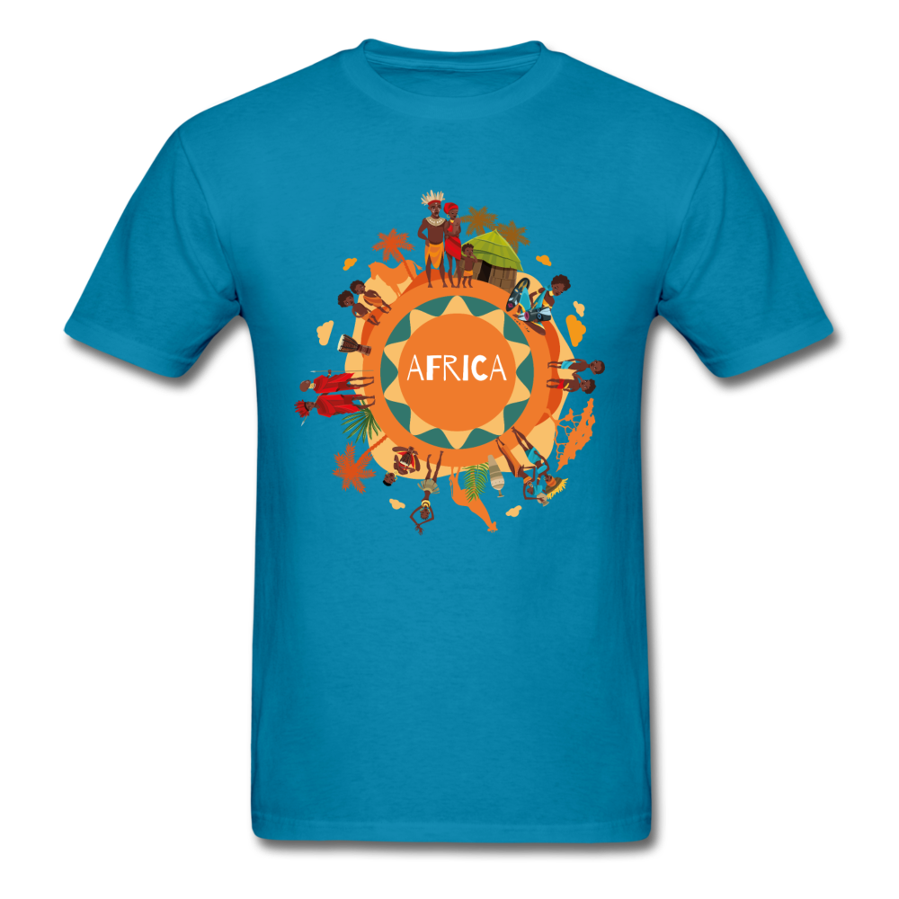 Africa Men's T-Shirt - turquoise