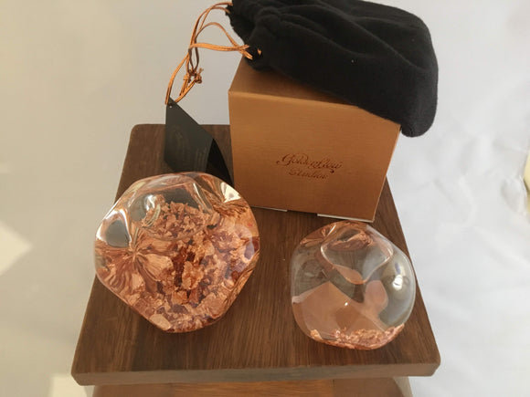 Copper Flow Crystal Ball, Large