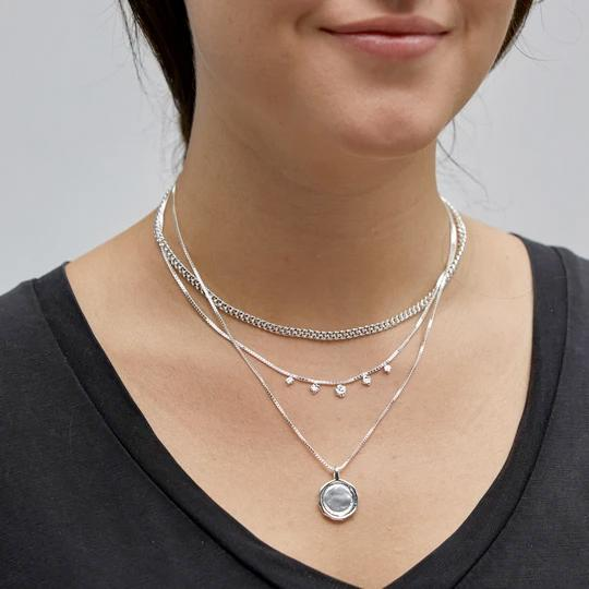Air Three-Strand Necklace, Silver-Plated - Two Hoots Gift Gallery