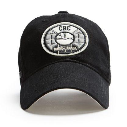 Ball Cap, Vintage Canadiana Logo, CBC Radio-Canada, Black - Two Hoots Gift Gallery