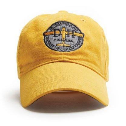Ball Cap, Vintage Canadiana Logo, deHavilland Aircraft of Canada, Black - Two Hoots Gift Gallery