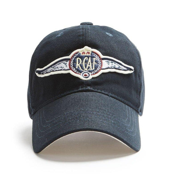 Ball Cap, Vintage Canadiana Logo, R.C.A.F. Wings - Two Hoots Gift Gallery