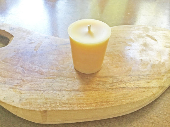 Beeswax Candles, Traditional Votive, small votive - Two Hoots Gift Gallery