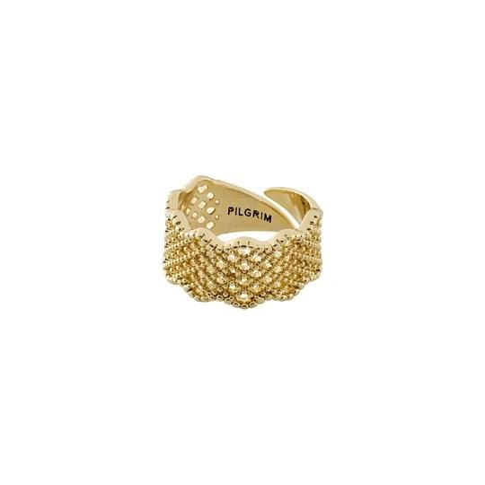 Cali Gold Basket-Weave Ring - Two Hoots Gift Gallery