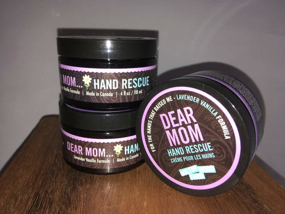 Dear Mom Hand Rescue Lotion, All Natural - Two Hoots Gift Gallery