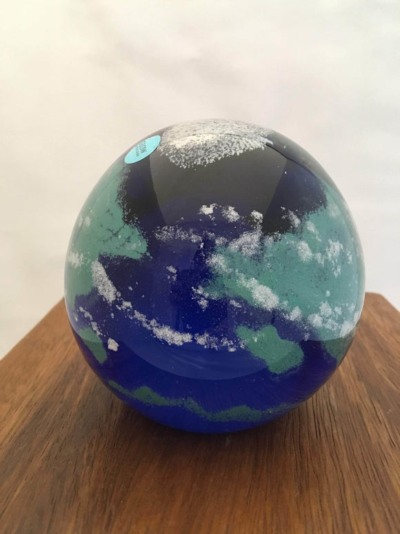 Earth Glow Ball, Art Glass, approx. 4