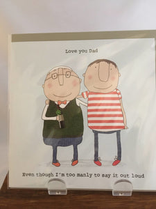 Father's Day Card, Love You Dad - Two Hoots Gift Gallery