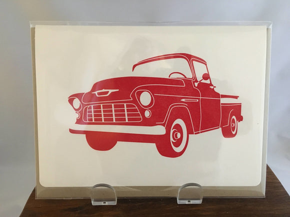 Father's Day Card, Vintage Red Truck - Two Hoots Gift Gallery