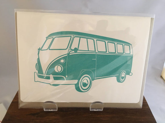 Father's Day Card, Vintage Volkswagon Bus - Two Hoots Gift Gallery