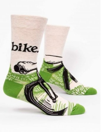 Fun Men's Socks, Bike - Two Hoots Gift Gallery