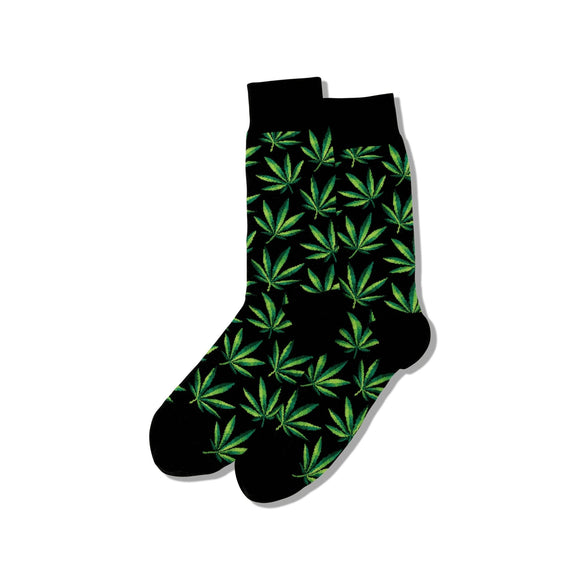 Fun Men's Socks, Cannabis Weed - Two Hoots Gift Gallery