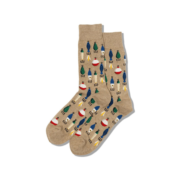 Fun Men's Socks, Fishing Lures - Two Hoots Gift Gallery
