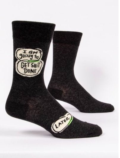 Fun Men's Socks, Get Shit Done...Later - Two Hoots Gift Gallery
