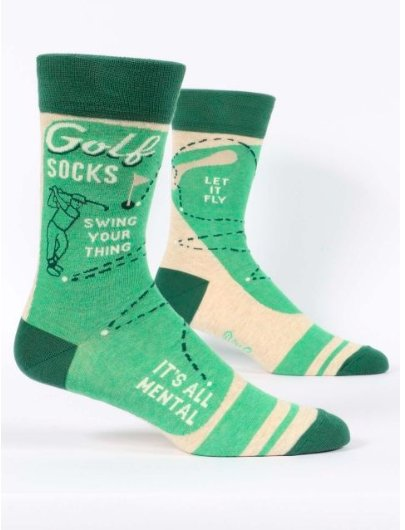 Fun Men's Socks, Golf Socks - Two Hoots Gift Gallery