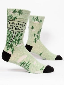 Fun Men's Socks, I Fucking Love It Out Here - Two Hoots Gift Gallery