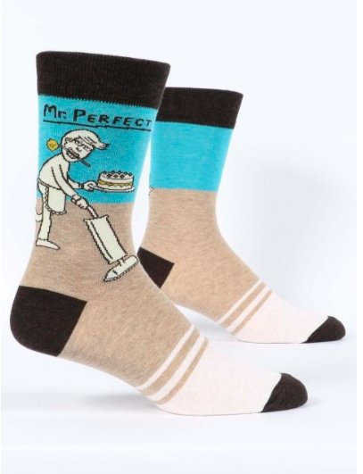 Fun Men's Socks, Mr. Perfect - Two Hoots Gift Gallery