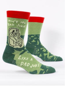 Fun Men's Socks, No Bad Joke Like a Dad Joke - Two Hoots Gift Gallery
