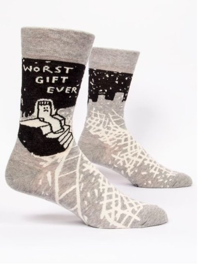 Fun Men's Socks, Worst Gift Ever - Two Hoots Gift Gallery